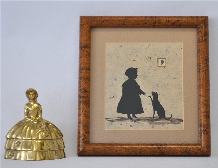 ORIGINAL ALISON SHRIVER GIRL & CAT SILHOUETTE - 5