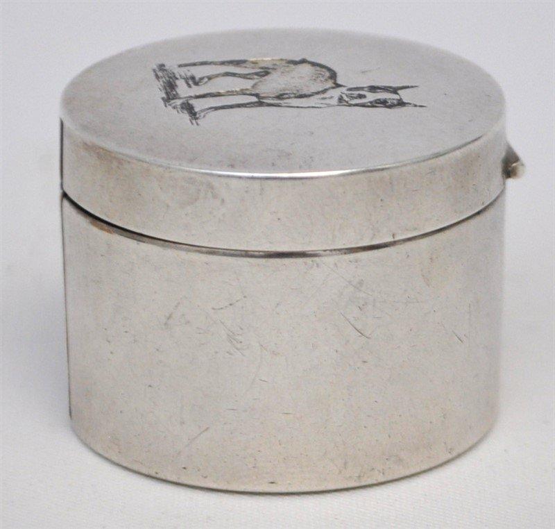 STERLING SILVER BULL TERRIER STAMP DISPENSER BOX - 3