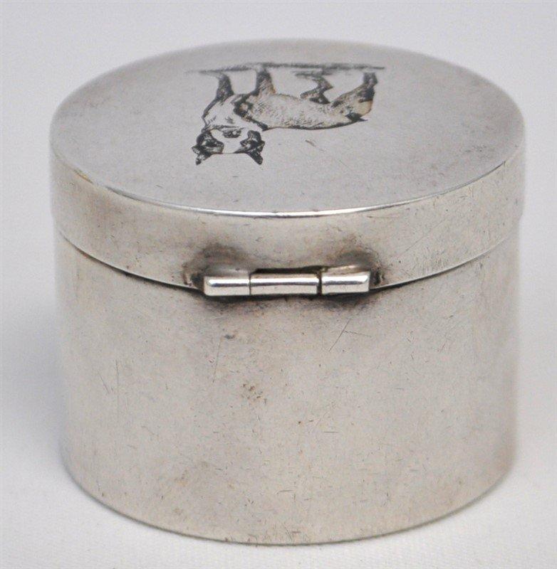 STERLING SILVER BULL TERRIER STAMP DISPENSER BOX - 4