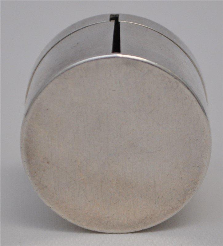 STERLING SILVER BULL TERRIER STAMP DISPENSER BOX - 7