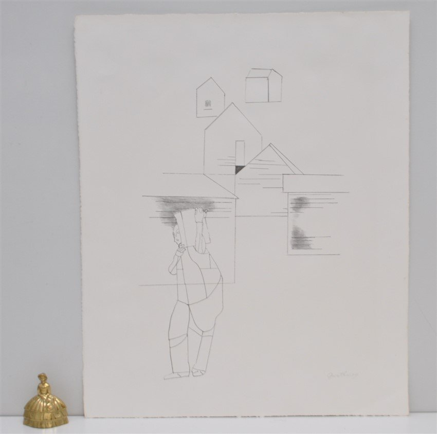 SIGNED ROBERT GWATHMEY (1903-1988) LITHOGRAPH