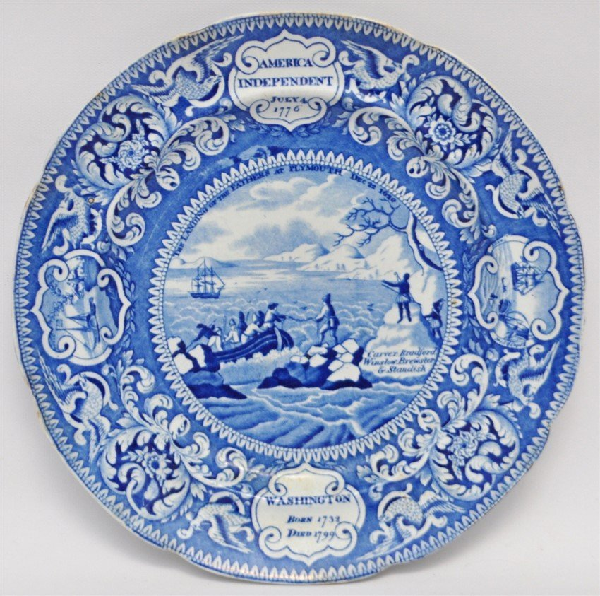 ENOCH WOODS 1825 AMERICAN INDEPENDENCE PLATE