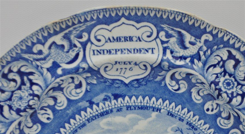ENOCH WOODS 1825 AMERICAN INDEPENDENCE PLATE - 3