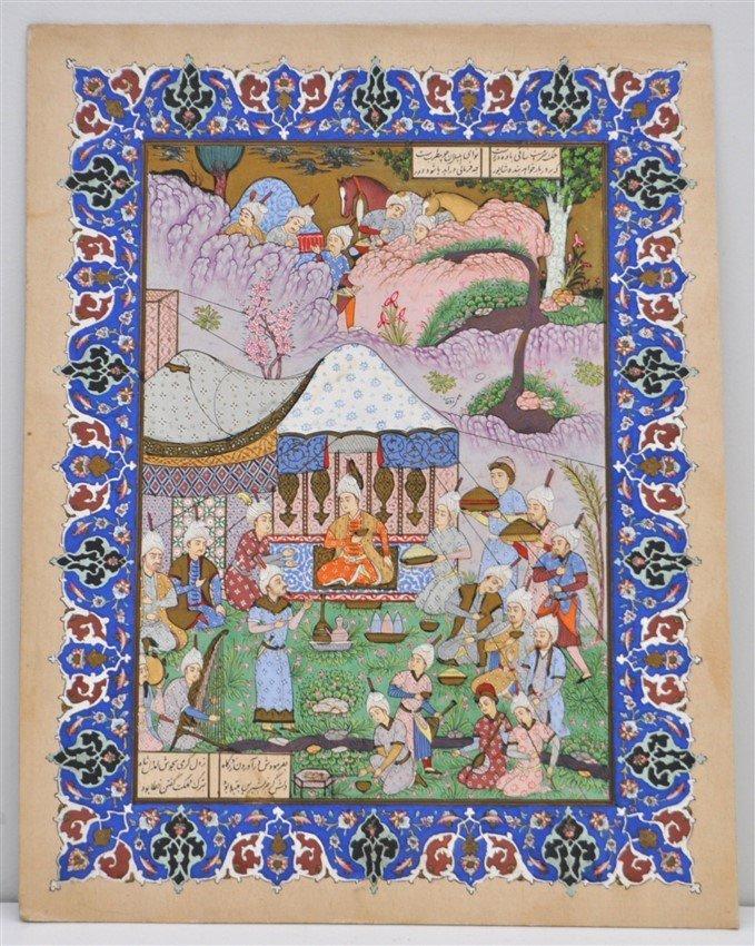 ROHANI PERSIAN WATERCOLOR PAINTING SIGNED