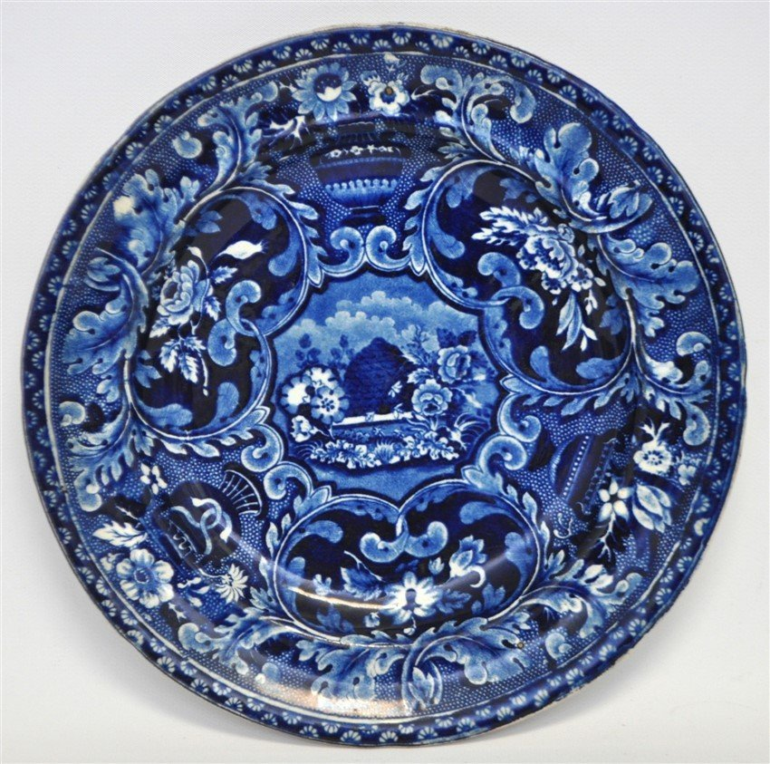 STAFFORDSHIRE C. 1809 BEEHIVE PLATE