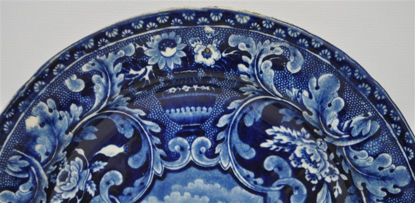 STAFFORDSHIRE C. 1809 BEEHIVE PLATE - 3