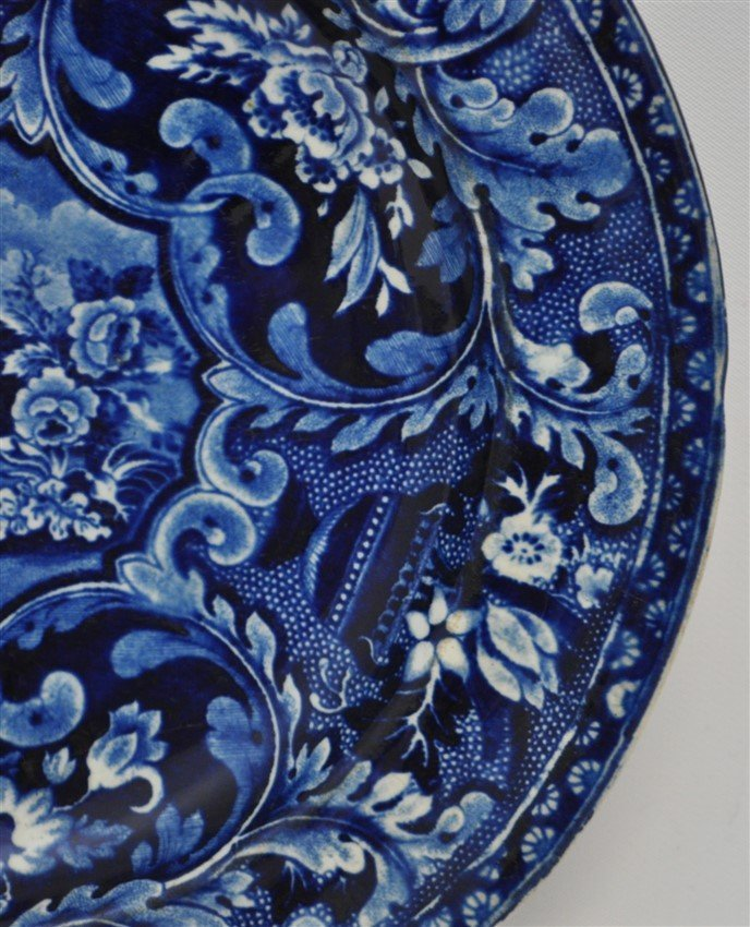 STAFFORDSHIRE C. 1809 BEEHIVE PLATE - 4