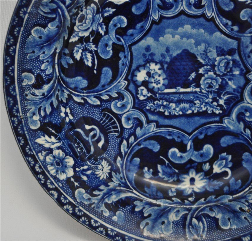 STAFFORDSHIRE C. 1809 BEEHIVE PLATE - 5