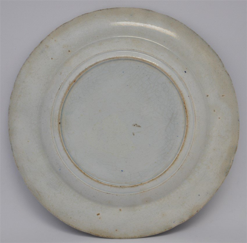 STAFFORDSHIRE C. 1809 BEEHIVE PLATE - 6