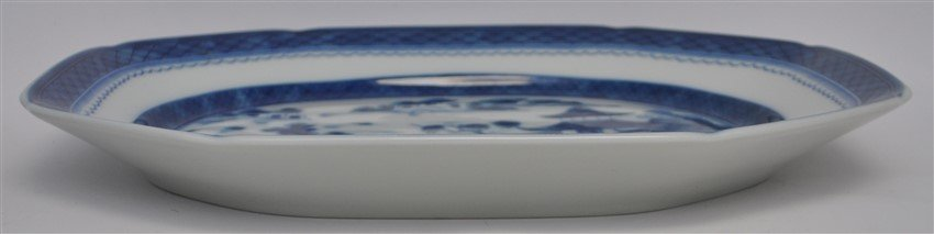LARGE MOTTAHEDEH BLUE CANTON TUREEN & UNDERPLATE - 6