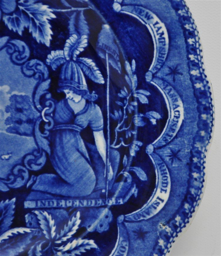 1820 AMERICA & INDEPENDENCE STAFFORDSHIRE PLATE - 4