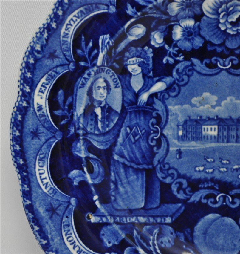 1820 AMERICA & INDEPENDENCE STAFFORDSHIRE PLATE - 5