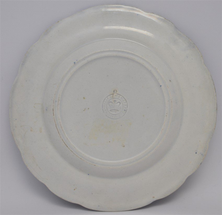 1820 AMERICA & INDEPENDENCE STAFFORDSHIRE PLATE - 7