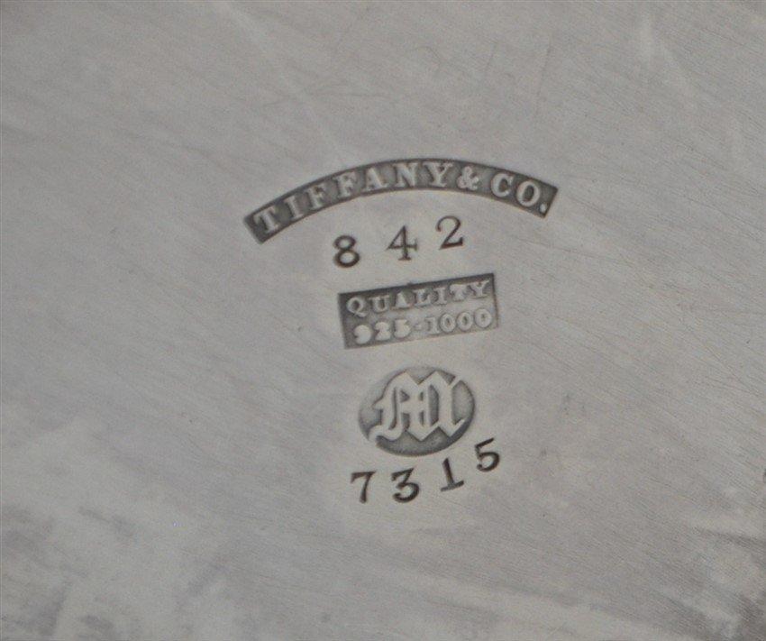 RARE TIFFANY STERLING SPOOL HOLDER BASKET - 6