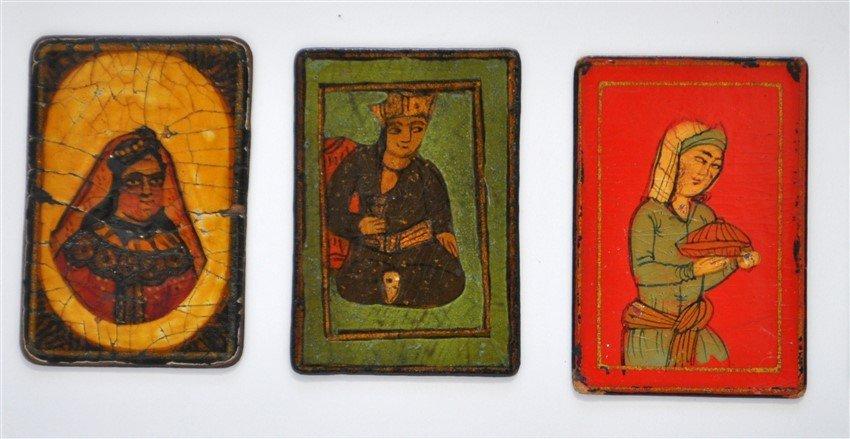 TEN 19th c. PERSIAN PLAYING CARDS AS-NAS - 2