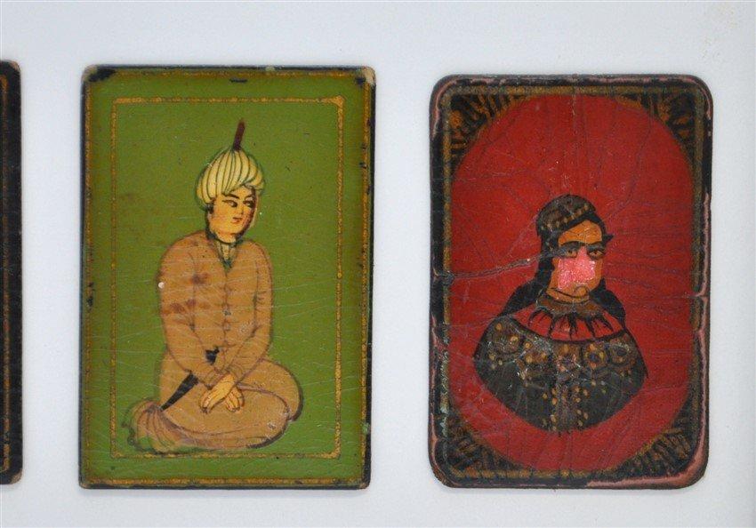 TEN 19th c. PERSIAN PLAYING CARDS AS-NAS - 5