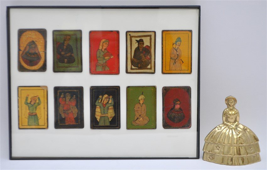 TEN 19th c. PERSIAN PLAYING CARDS AS-NAS - 6