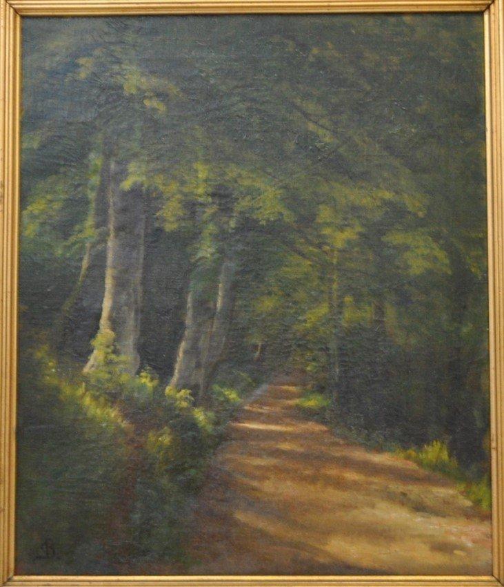 CHRISTIAN BERTHELSEN (1839-1909) OIL WOODLANDS - 2