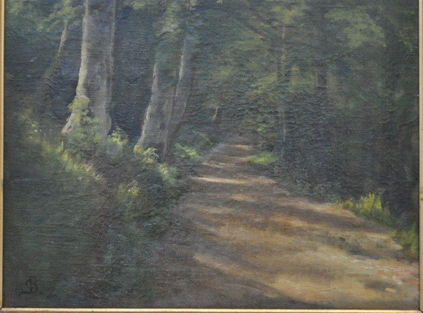 CHRISTIAN BERTHELSEN (1839-1909) OIL WOODLANDS - 3