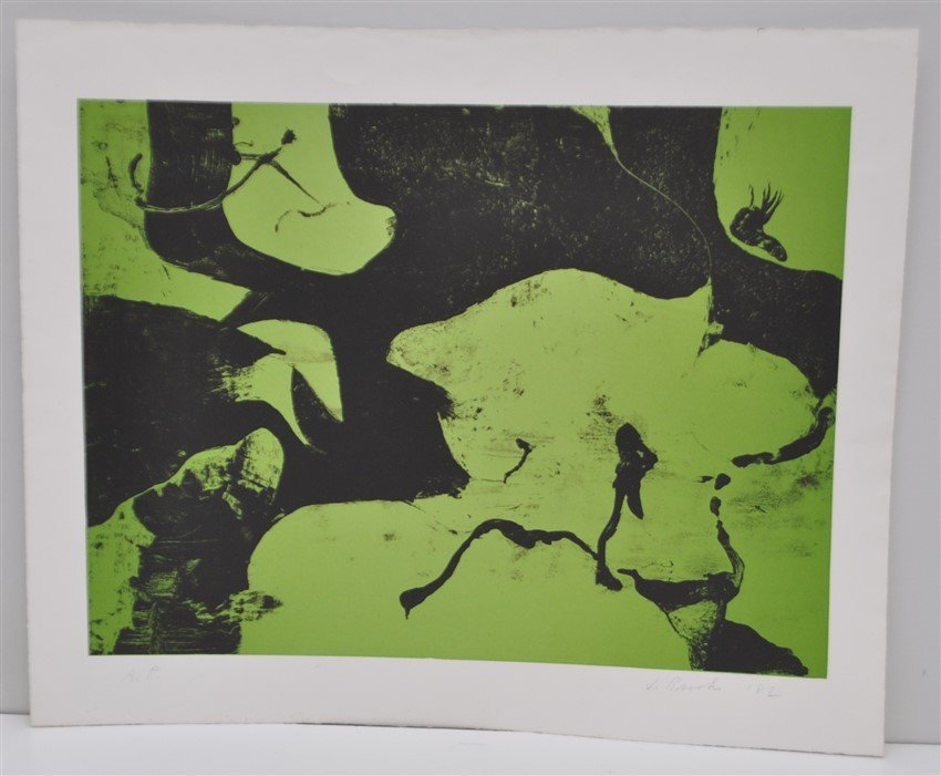 SIGNED JAMES BROOKS (1906 - 1992) LITHOGRAPH A/P