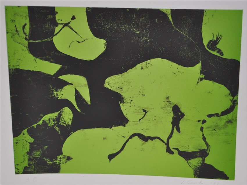 SIGNED JAMES BROOKS (1906 - 1992) LITHOGRAPH A/P - 2