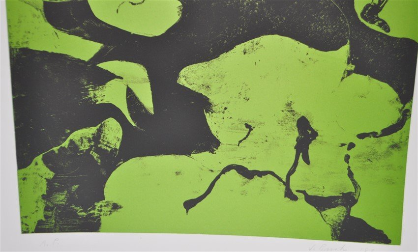 SIGNED JAMES BROOKS (1906 - 1992) LITHOGRAPH A/P - 3