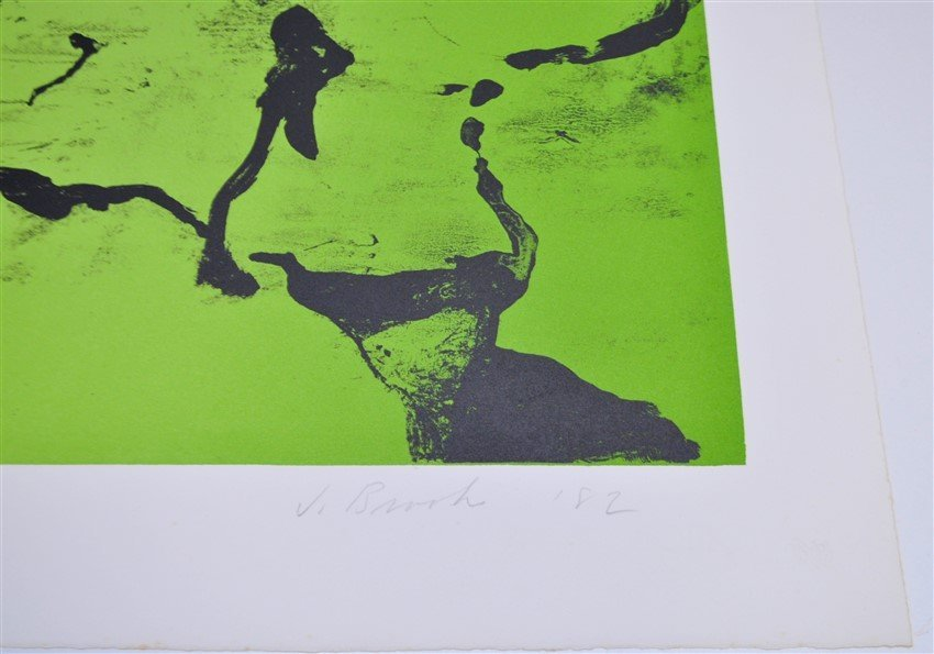 SIGNED JAMES BROOKS (1906 - 1992) LITHOGRAPH A/P - 4