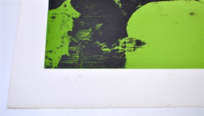 SIGNED JAMES BROOKS (1906 - 1992) LITHOGRAPH A/P - 5