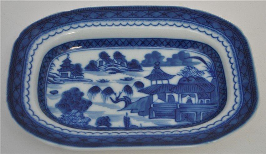MOTTAHEDEH BLUE CANTON GRAVY BOAT W UNDERPLATE - 3