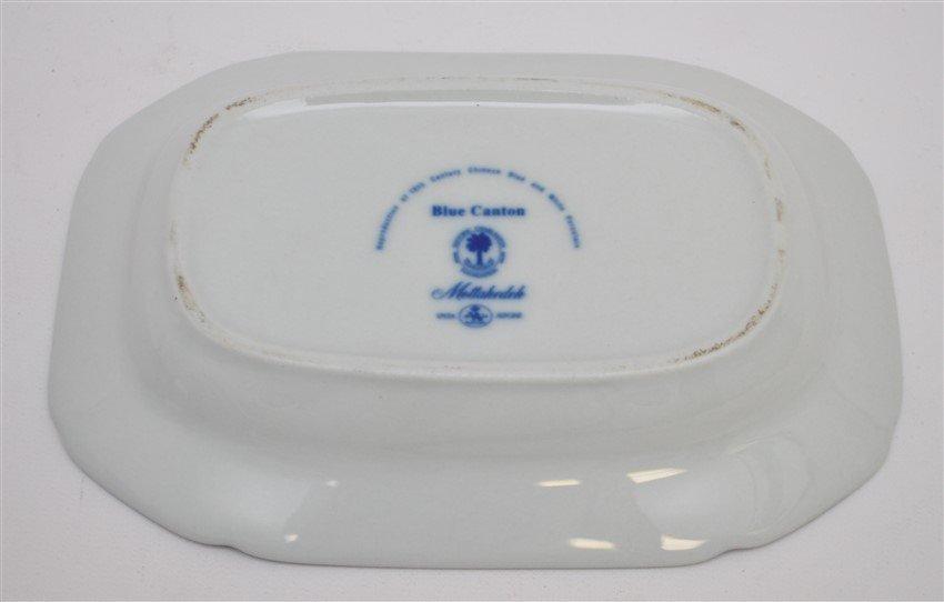 MOTTAHEDEH BLUE CANTON GRAVY BOAT W UNDERPLATE - 6