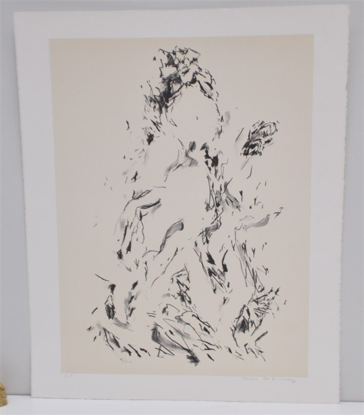 DE KOONING SIGNED ARTISTS PROOF LITHOGRAPH