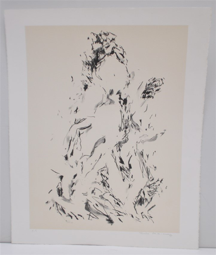 DE KOONING SIGNED ARTISTS PROOF LITHOGRAPH - 5