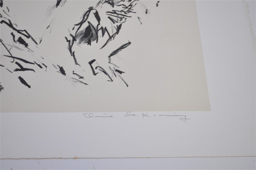 DE KOONING SIGNED ARTISTS PROOF LITHOGRAPH - 9