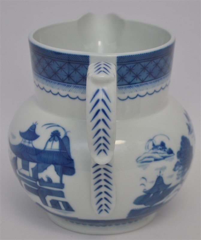 MOTTAHEDEH BLUE CANTON PITCHER AND LID - 6