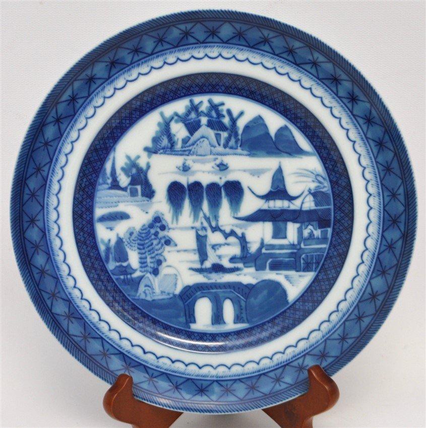 8 MOTTAHEDEH BLUE CANTON SALAD DESSERT PLATES