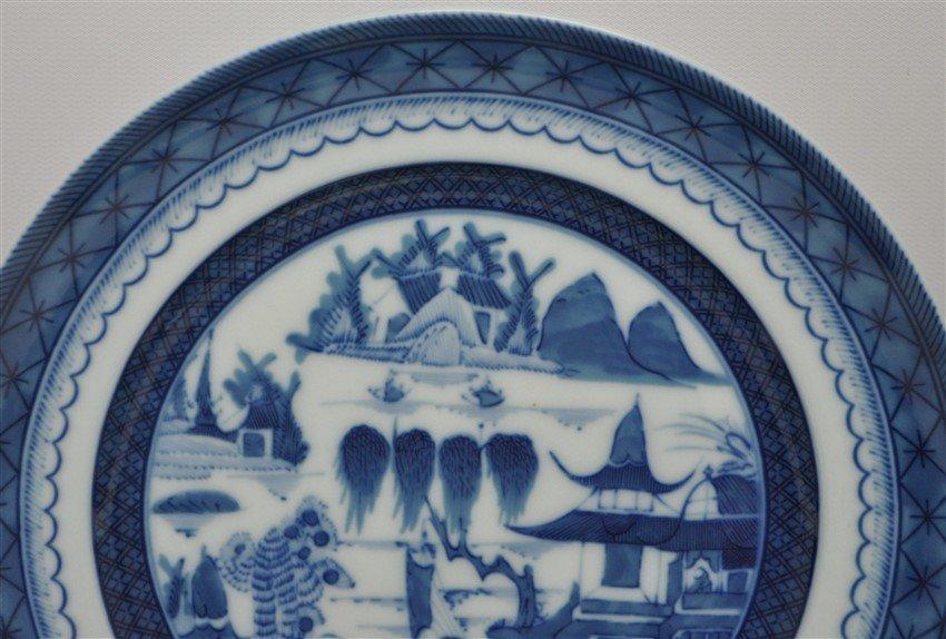 8 MOTTAHEDEH BLUE CANTON SALAD DESSERT PLATES - 3