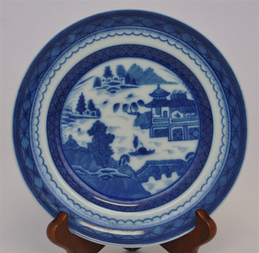 8 MOTTAHEDEH BLUE CANTON BREAD & BUTTER PLATES