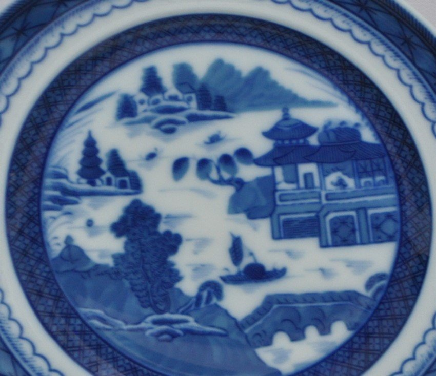 8 MOTTAHEDEH BLUE CANTON BREAD & BUTTER PLATES - 3