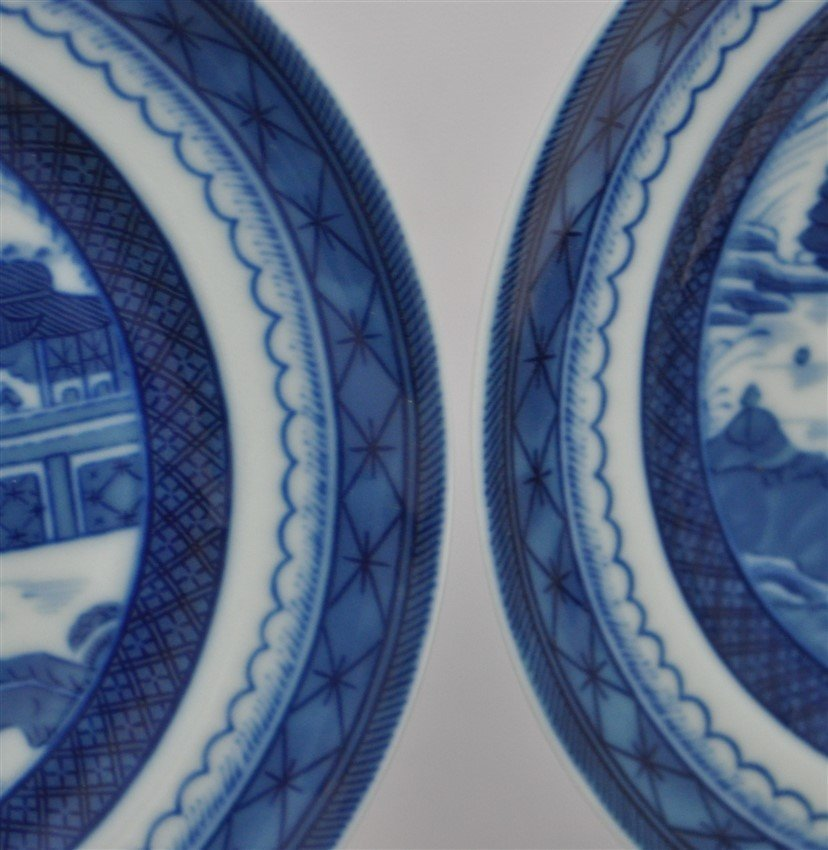 8 MOTTAHEDEH BLUE CANTON BREAD & BUTTER PLATES - 4
