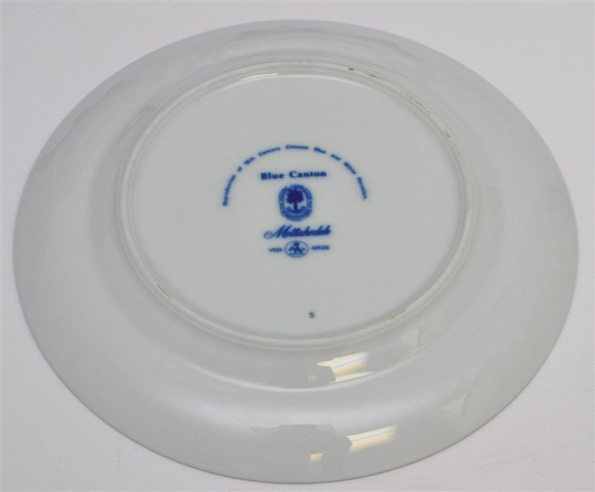 8 MOTTAHEDEH BLUE CANTON BREAD & BUTTER PLATES - 5