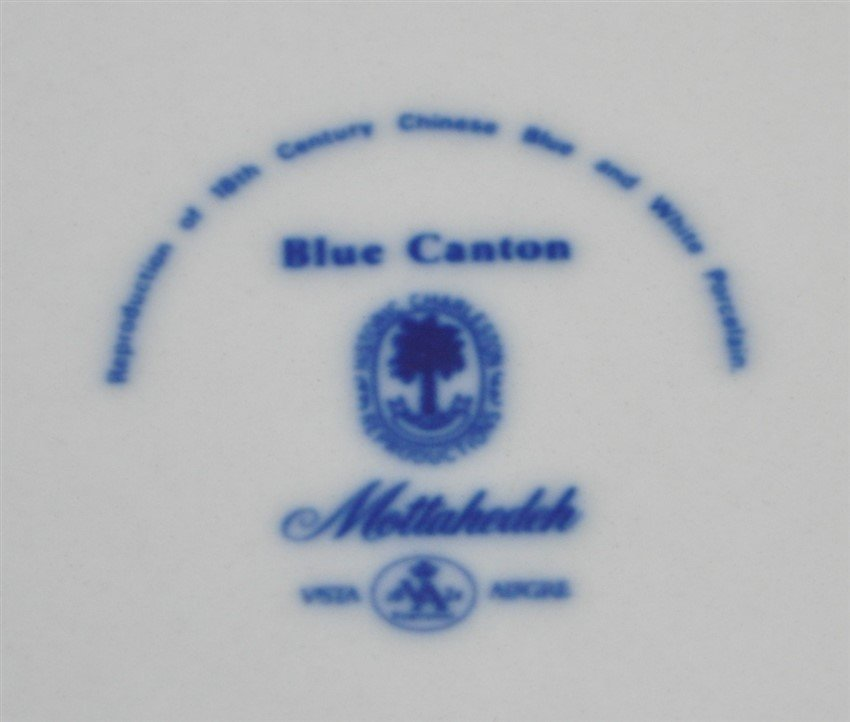 8 MOTTAHEDEH BLUE CANTON BREAD & BUTTER PLATES - 6