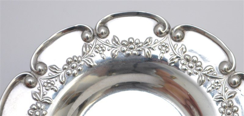PAIR STERLING SILVER BLACK STARR FROST  BUTTER PATS - 4