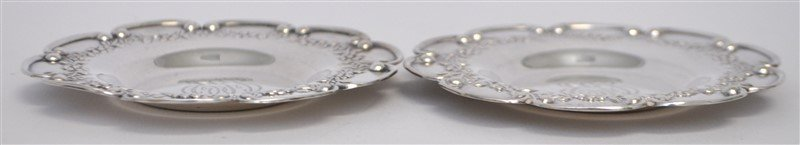 PAIR STERLING SILVER BLACK STARR FROST  BUTTER PATS - 5