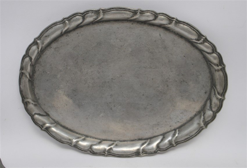 6 pc 19th c. PEWTER PLATES - TRAY - BOWLS - 2