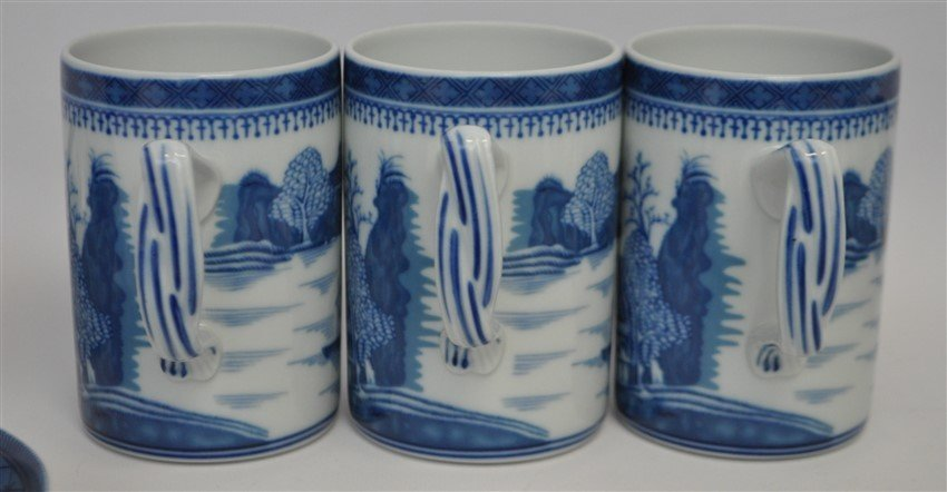 11 PC MOTTAHEDEH BLUE CANTON CHINA - 10