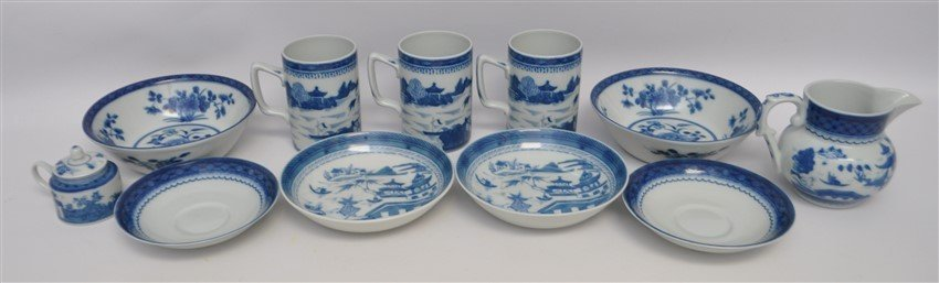 11 PC MOTTAHEDEH BLUE CANTON CHINA