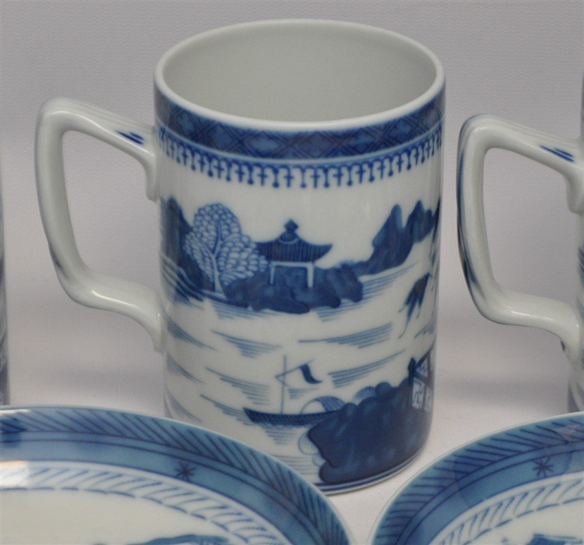 11 PC MOTTAHEDEH BLUE CANTON CHINA - 2