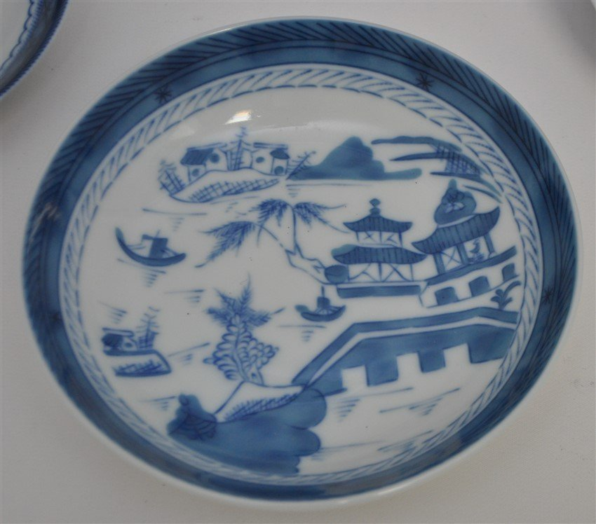 11 PC MOTTAHEDEH BLUE CANTON CHINA - 7