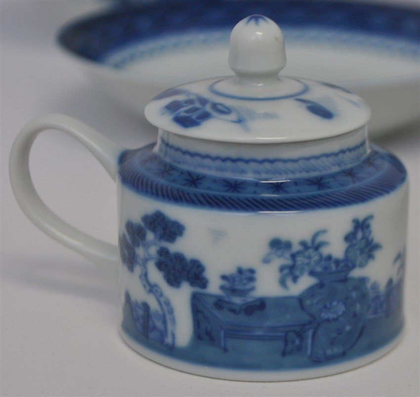 11 PC MOTTAHEDEH BLUE CANTON CHINA - 8