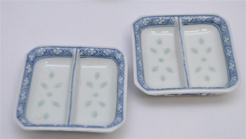 12 PC VINTAGE CHINESE EXPORT RICE GRAIN PORCELAIN - 6